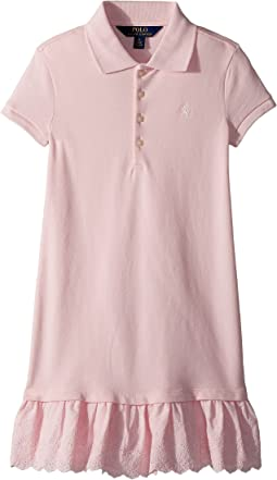 Polo Ralph Lauren Kids Eyelet-Hem Stretch Polo Dress (Little Kids)