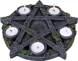 Nemesis Now Wiccan Pentagram świecznik 25,5 cm czarny, żywica