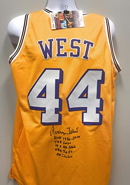 Jerry West Los Angeles Lakers Signed Autograph Rare Multi ...