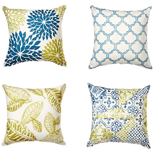 Navy And Green Throw Pillows Amazon Com