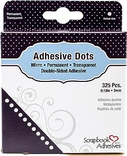 Toga Lot de 325 Pastilles Adhésives double-face 3mm, Autre, Transparent, 9 x 11.5 x 2.5 cm