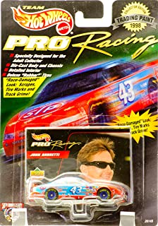 1998 - Mattel - Team Hot Wheels - Pro Racing - Trading Paint - John Andretti - #43 - STP - Pontiac Grand Prix - Upper Deck Card - New - Rare - Out of Production - Limited Edition - Collectible by Hot Wheels