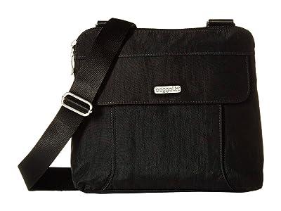 Baggallini All in RFID Crossbody (Black/Sand) Handbags