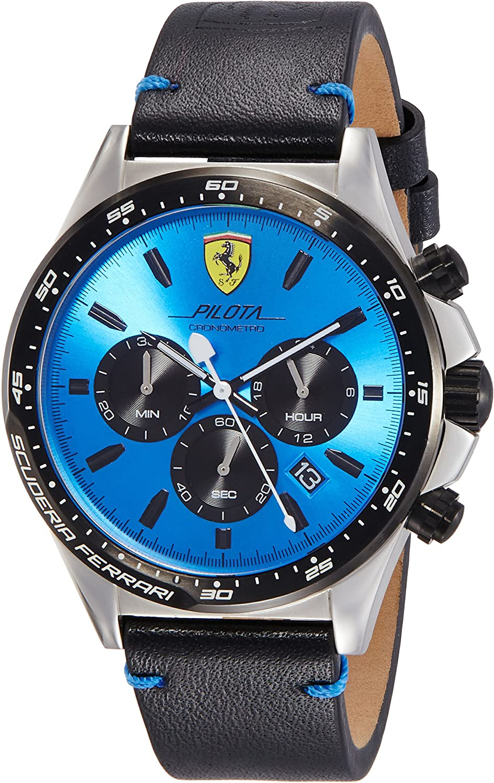 Scuderia Ferrari Reloj Cronógrafo para Hombre de Cuarzo con Correa en Cuero 830388