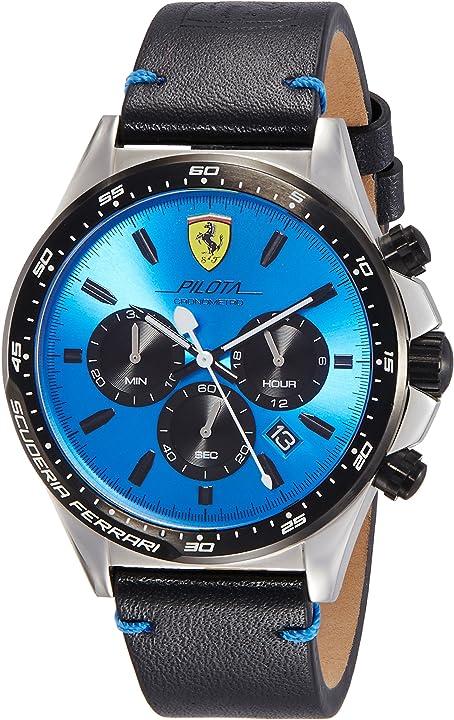 Orologio ferrari  - scuderia ferrari orologio cronografo quarzo da uomo con cinturino in pelle 830388