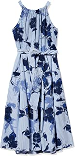 Julian Taylor womens Sleeveless Side Tie Floral Print Dress Dress