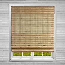 Calyx Interiors Bamboo Roman Window Blinds Shades, 28