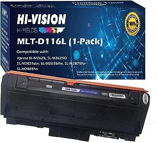HI-Vision Compatible Samsung MLT-D116L High Yield Black Toner Cartridge Replacement for Xpress M2885FW, M2835DW, M2825FD, M2875FW, M2875FD, M2625D Laser Printers (1 Pack)