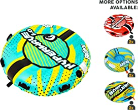 Big Sky HyperWave 2.0 Towable Tube for 1-2 People - Roomy, Durable Boating Tubes for Lake, Beach, River, Snow - Watersports Towables - Quick Inflation and Deflation - Two Person Boat Toys and Floats