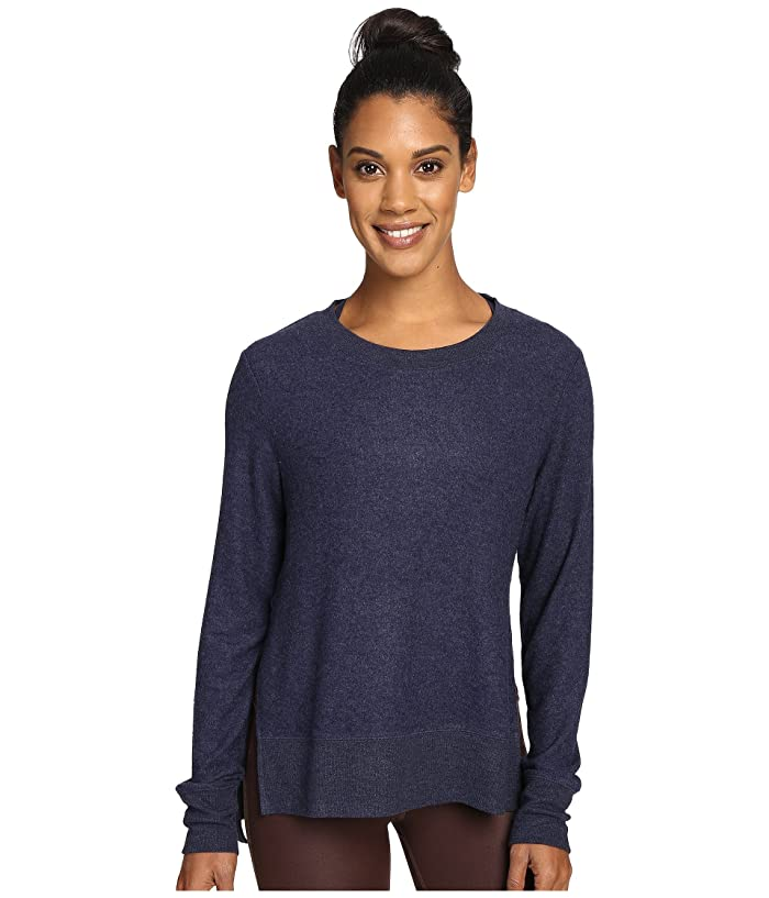 ALO Glimpse Long Sleeve Top (Rich Navy Heather) Women