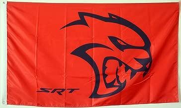 Dodge Motorsports Black Red Checked 3x5ft banner Flag US Seller