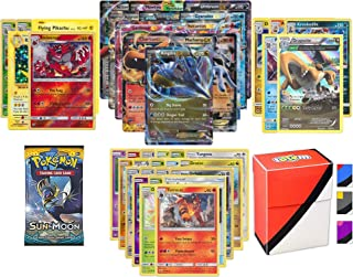 Pokemon EX Guarantee with Booster Pack, 5 Rare Cards, 5 Holo/Reverse Holo Cards, 20 Regular Pokemon Cards and Totem Deck Box