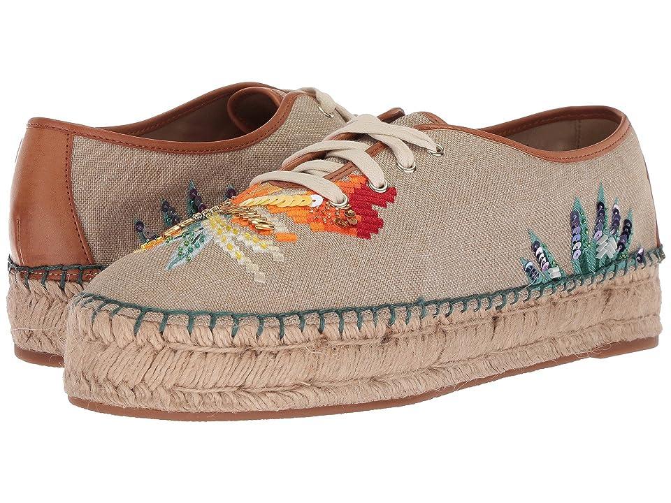 Nine West Guinup Espadrille Sneaker (Natural/Dark Natural Linen) Women