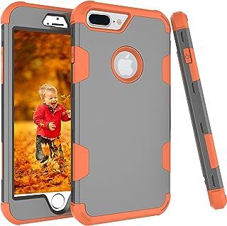 AOKER - Carcasa para iPhone 7 Plus, Resistente a los Golpes, de plástico Duro y de Goma de Silicona Suave, protección contra Impactos, Mejor protección para iPhone 7 Plus de 5,5 Pulgadas (2016)