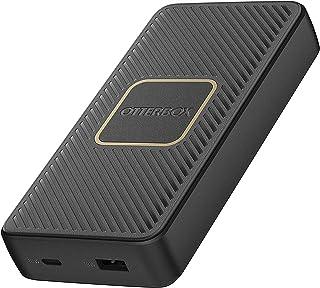 OtterBox robust snabbladdare 15K mAh USB A&C 18W USB-PD Powerbank med 10W Qi trådlös laddning - Svart