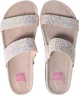 MUK LUKS Women's Deedee Sandal-Blush Glitter