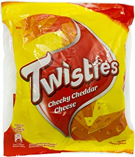Twisties Cheddar Snack, 120g (Pack of 8)