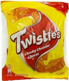 Twisties Cheddar Snack, 120g (Pack of 8)