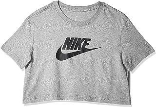 تي شيرت ملابس نايك الرياضية للنساء من نايك، ازرق (اسود/ ابيض 010)، مقاس صغير جداً