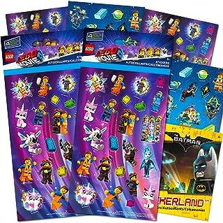 Lego Movie 2 & Batman Stickers Party Supplies Set ~ 14 Lego Batman & Lego Movie 2 Party Favors Sheets (300+ Stickers)