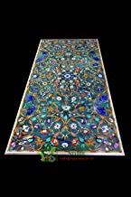 Handicraft Store Green Rectangle Marble Inlay Table Top for Home Decor, Dining Table, Patio Table, Conference Table and Of...