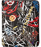 LOVE Moschino - Graffiti Print iPad Case