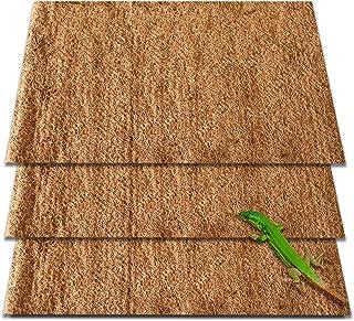 ZeeDix Natural Coconut Fiber Reptile Carpet Mat- Pet Terrarium Substrate Liner Bearded Dragon Flooring Supplies for Lizard...