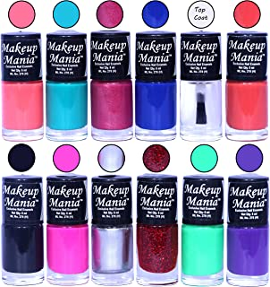 Makeup Mania HD Color Attractive Nail Polish Set of 12 Pcs in Unique Combo of Multicolor Nail Paints (MM-134), 400 g