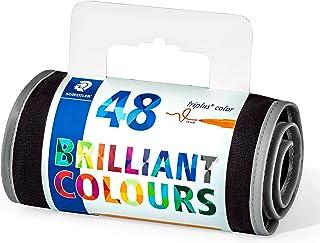 Staedtler Triplus 323 RU48 Felt-Tip Pens Color Ergonomic Triangular Shape – Easy to Wash