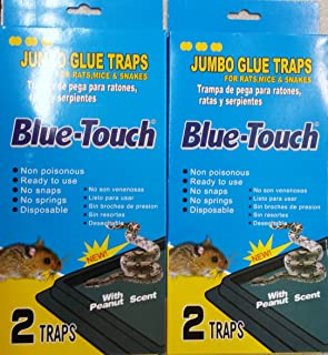2 Packs of 2 Blue-Touch Jumbo Rat, Mice, and Snake Traps Total 4 Traps)