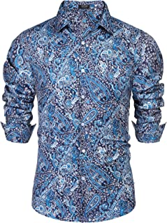 dark blue paisley shirt
