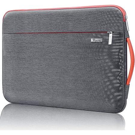 """Voova 360°保護ノートパソコンケース 11 11.6 12インチ 耐衝撃PCケース ラップトップスリーブカバー 手提げカバン インナーPCバッグ 撥水加工 取っ手付き 裏起毛 持ち歩き メンズ レディース Chromebook/MacBook Air/iPad pro 12.9""""/12.5""""Surface Pro 7サーフェスプロ7ケース/レッツノート/Toshiba/FUJITSU/Lenovo レノボ/Dell/ASUS/Acer/HPに対応可能 就活通学 ビジネス キャリングケース(グレー)"""