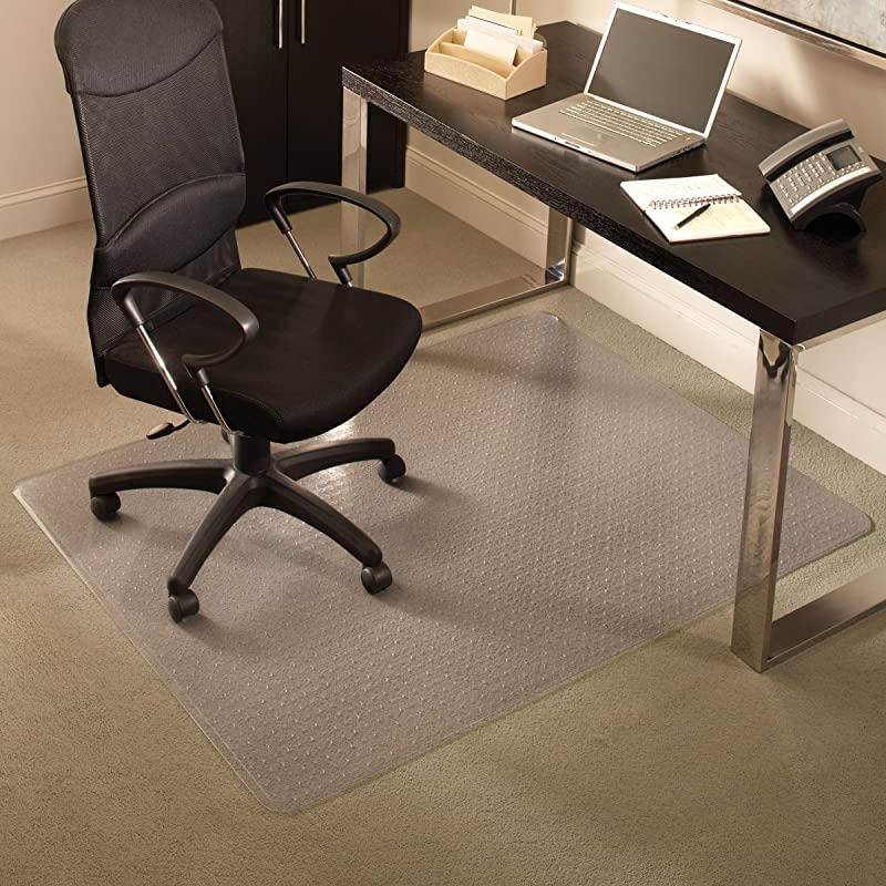 ES Robbins Everlife 60 X 72 Medium Pile Series Rectangle Anchorbar Chair Mat Clear