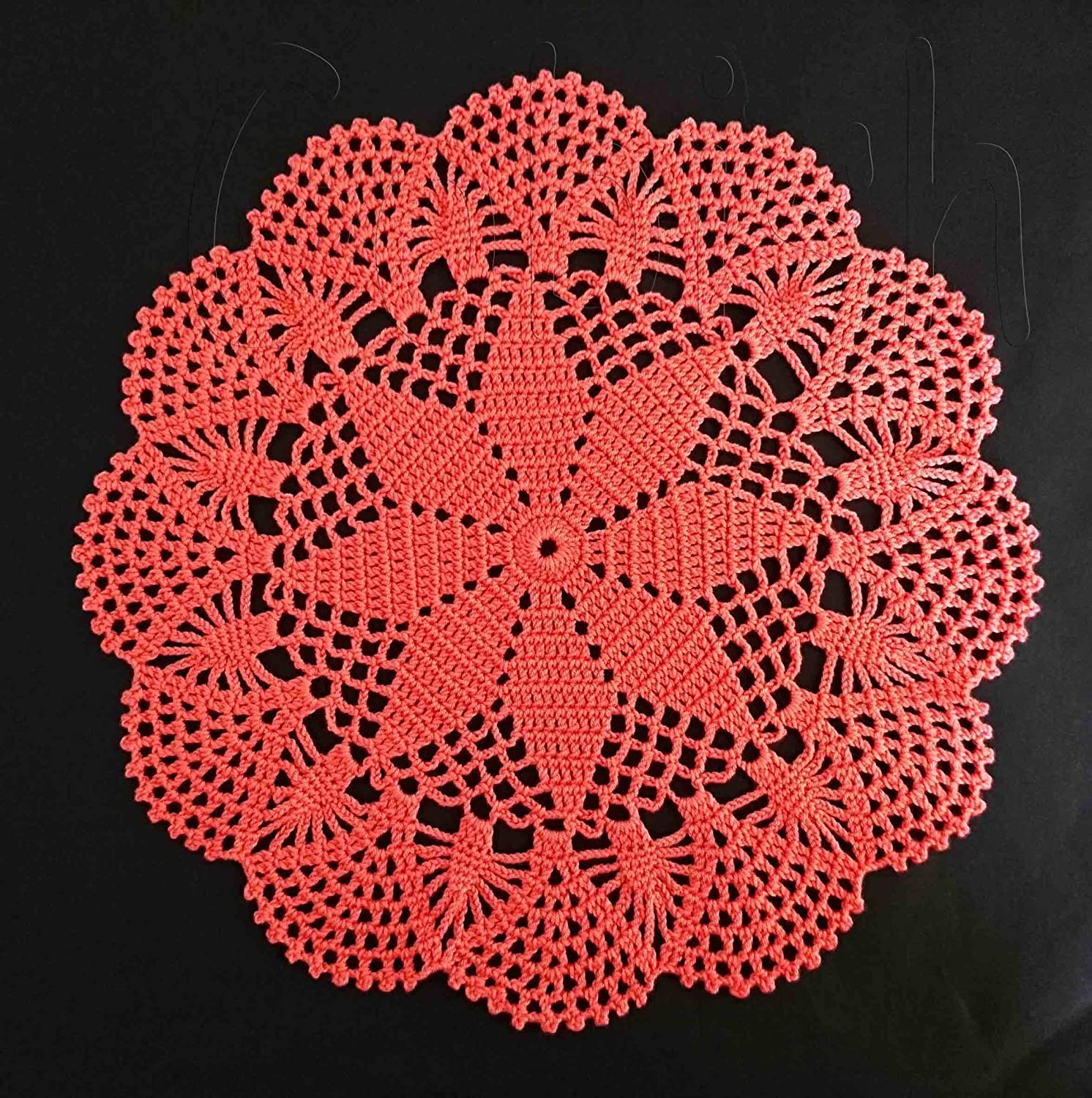 25% OFF Handmade Crocheted Doily Tablecloth trend rank placemats doilies Round