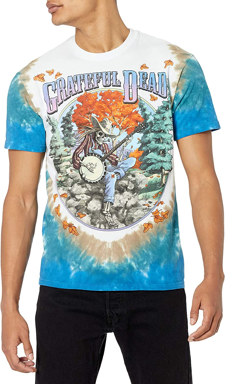 Liquid Blue Men's Grateful T-Shirt We OFFer at cheap prices Banjo Max 51% OFF Dead