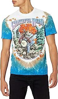 Liquid Blue Mens 11581-T Dy/Mlt-S Grateful Dead Banjo Tie Dye Short Sleeve T-Shirt Short Sleeve T-Shirt