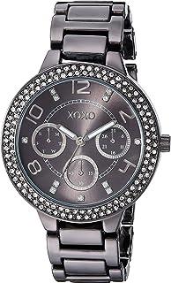 ساعة اكس او اكس او انالوج كوارتز للنساء مع سوار من المعدن - فضي، 17.9 (XO5870)