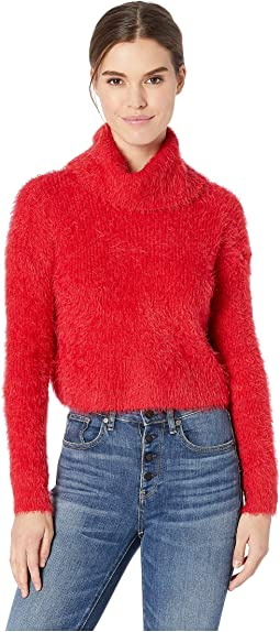 Bat Your Lashes Rib Stitched Eyelash Sweater
