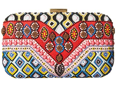 Alice + Olivia Shirley Embellished Clutch (Multi) Handbags