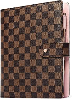 $26 » Brown Checkered A5 Agenda Planner Binder Journal Notepad Diary Organizer Schedule Calendar Over 60 Pages Inserts Included