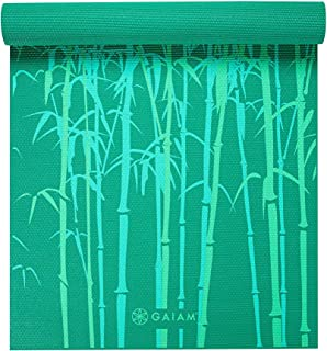 "Gaiam Yoga Mat - Classic 4mm Print Thick Non Slip Exercise & Fitness Mat for All Types of Yoga, Pilates & Floor Workouts (68"" x 24"" x 4mm)"