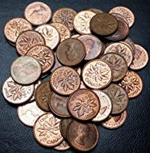 Lot of 50x 1963, 1964, 1965 Canada Small Cent Pennies - Great Condition Coins