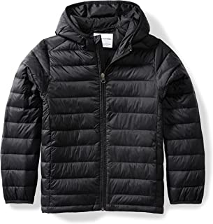 Boys Lightweight Water-Resistant Packable Hooded Puffer...