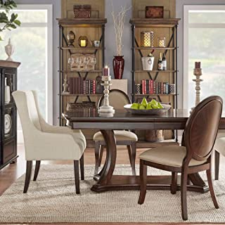 Rich Brown Cherry Finish Extending Dining Table Modern Contemporary Traditional Transitional Vintage Specialty MDF Veneer Wood Leaf Extension