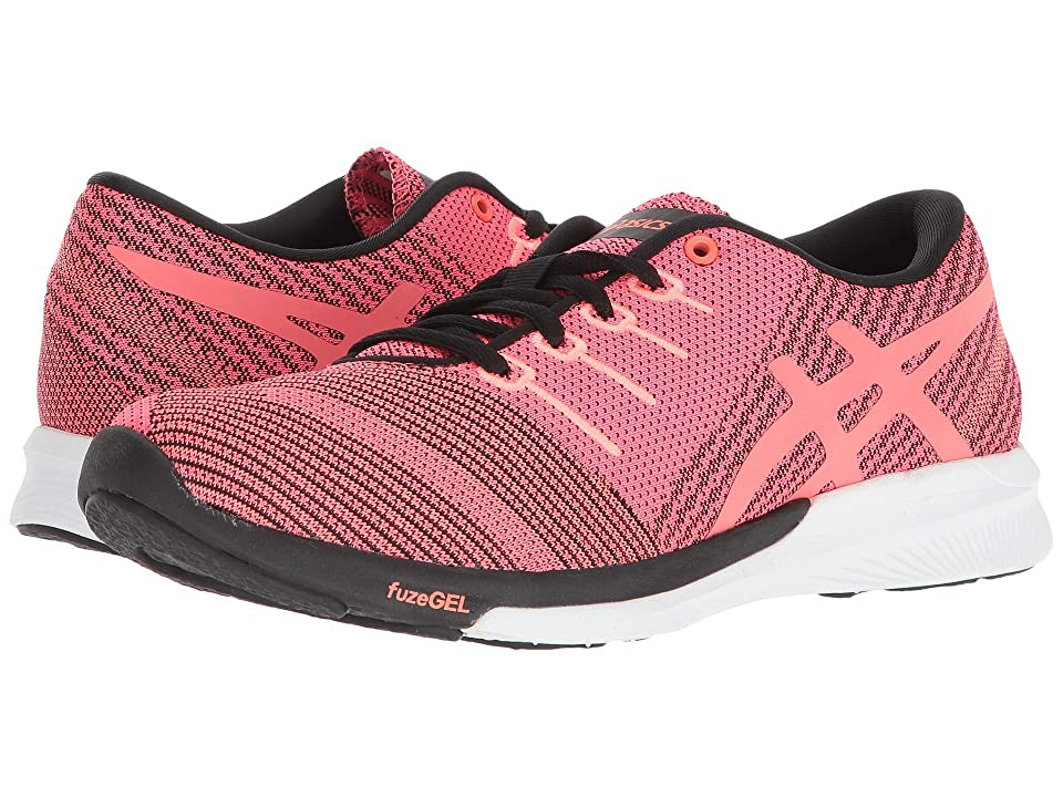 ASICS fuzeX Knit (Pink Glo/Flash Coral/Black) Women
