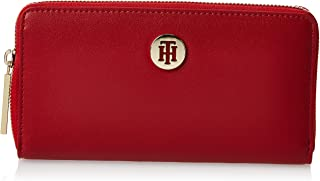 Tommy Hilfiger Zip-Around Wallet for Women-Haute Red Mix