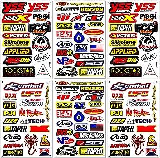 Motocross Supercross Dirt Bike Motorcycles MotoGP ATV Helmet Racing Lot 6 Vinyl Graphic Stickers Decals D6206 Best4Buy