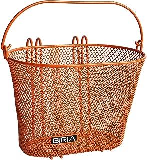 BIRIA Basket with Hooks Orange, Front, Removable, Children Wire mesh Small Kids Bicycle Basket, New, Orange