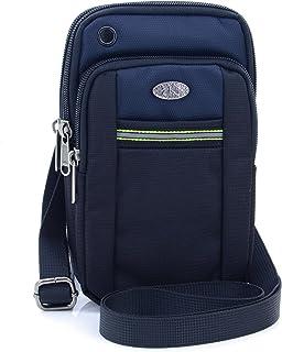U-TIMES حقيبة الخصر أكسفورد مقاومة للماء 6.5 بوصة حقيبة الكتف الهاتف الخليوي حقيبة الكتف (الأزرق الداكن)