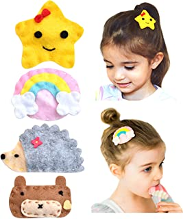 California Tot Felt Hair Snap, Non-Slip Hair Clips for Toddler, Girls